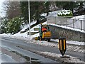 NT2540 : Pavement snow clearing, Peebles by Jim Barton