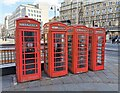 TQ3080 : K6 Telephone Boxes, Charing Cross by PAUL FARMER