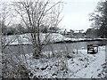 H4772 : Winter scene along the Camowen River by Kenneth  Allen