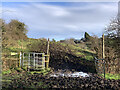 SJ7949 : Muddy gateway and kissing gate, Audley Meadows by Jonathan Hutchins