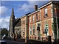 ST8026 : Lloyds Bank and Methodist church, Gillingham by Jonathan Hutchins