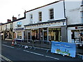 SO3700 : Blue banner, Bridge Street, Usk, Monmouthshire by Jaggery