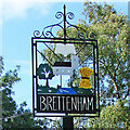 TL9654 : Brettenham village sign by Adrian S Pye