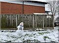SJ7950 : Snowman outside Dean View by Jonathan Hutchins