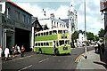 TV6199 : Leaving the bus station, Pevensey Road, Eastbourne – 1972 by Alan Murray-Rust