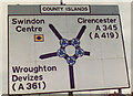 SU1584 : Original sign for the Magic Roundabout, 1982, then called County Islands by Colin Busby Forward