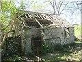 SH6169 : Derelict farm outbuilding, Llanllechid by Meirion