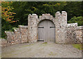 NH7748 : Dalcross Castle entrance by Craig Wallace