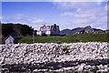 NN6899 : Boulders on west side of Allt Fionndrigh by Trevor Littlewood