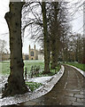TL4458 : King's College: a sprinkling of snow by John Sutton
