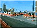 TQ2182 : HS2 Victoria Road Crossover Box works, School Road by David Hawgood