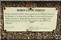 SX8959 : Notice on Cliff Gardens Promenade by Derek Harper