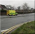 ST3090 : Yellow emergency ambulance, Malpas, Newport by Jaggery