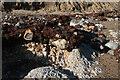 TG1643 : Exposed rock below Beeston Bump by Hugh Venables
