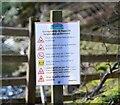 NT2831 : Covid notice, Glen Estate by Jim Barton