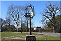 TM0057 : Buxhall village sign, St Mary's church and Copinger Hall by Adrian S Pye