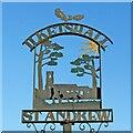 TM3886 : Ilketshall St Andrew village sign by Adrian S Pye