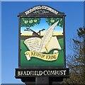 TL8957 : Bradfield Combust village sign by Adrian S Pye