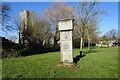 TL9148 : Lavenham village sign by Adrian S Pye