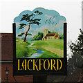 TL7970 : Lackford village sign by Adrian S Pye
