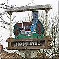 TL8570 : Ingham village sign by Adrian S Pye