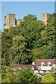 SO5074 : Dinham Weir House and Ludlow Castle by Ian Capper