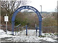 SO8656 : Entrance to King George V Playing Fields, Worcester by Chris Allen