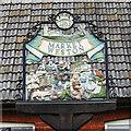 TL9877 : Market Weston village sign by Adrian S Pye