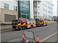 SE1632 : Fire Engines  on Nelson Street, Bradford by Stephen Armstrong