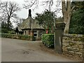 SE2238 : North lodge, Rawdon Crematorium - front by Stephen Craven