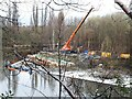 SE2734 : Construction of fish pass at Armley weir by Stephen Craven