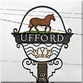 TM2952 : Ufford village sign (detail) by Adrian S Pye