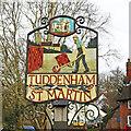 TM1948 : Tuddenham St Martin village sign by Adrian S Pye