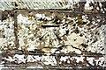 NY3649 : Benchmark on north parapet of Dalston Bridge by Luke Shaw
