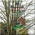 TM0060 : Shelland village sign by Adrian S Pye