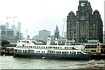 SJ3390 : MV Royal Iris at Liverpool Pier Head – 1972 by Alan Murray-Rust