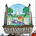 TL8449 : Stanstead village sign (south face) by Adrian S Pye