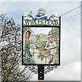 TL8358 : Whepstead village sign by Adrian S Pye