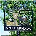 TM0650 : Willisham village sign (detail) by Adrian S Pye
