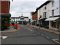 TG2830 : North Walsham Town Clock from Market Place by David Pashley