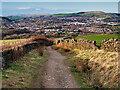 SD7719 : Moor Road, the Descent towards Helmshore by David Dixon