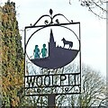 TL9762 : Woolpit village sign by Adrian S Pye
