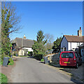 TL3844 : Melbourn: on Dolphin Lane in early spring by John Sutton