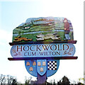 TL7388 : Hockwold village sign by Adrian S Pye