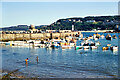SW5240 : St Ives harbour and Smeaton's Pier - 1972 by Mrs. G. Reinholds