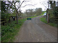 SO9740 : Private drive to Lodge Farm from Hill Lane, Elmley Castle by Chris Allen