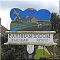 TG0807 : Barnham Broom village sign by Adrian S Pye