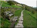 SE1026 : Seat on Footpath 9/381/1, Northowram by Humphrey Bolton