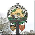 TF6424 : North Wootton village sign by Adrian S Pye