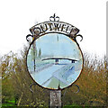 TF5103 : Outwell village sign (north face) by Adrian S Pye